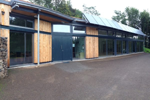 GreenSteps triple glazed windows and sliding doors in Bardon Mill Village Hall