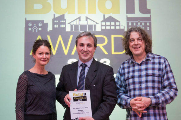 GreenSteps lift and slide doors WINNERS of Build It Awards 2013